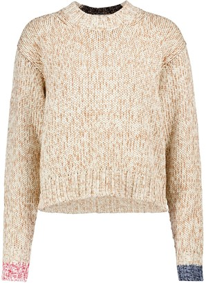 Acne Studios Cropped cotton-blend sweater