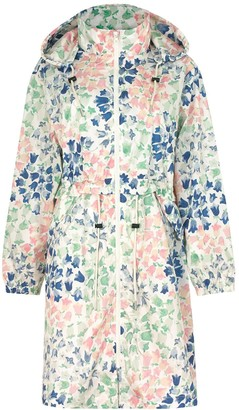 Cath Kidston Recycled Painted Bluebell Long Raincoat - Cream