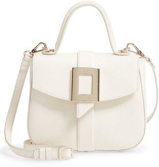 Roger Vivier Mini Beau Vivier Covered Buckle Leather Satchel