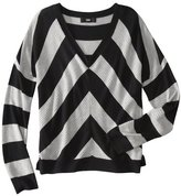 Mossimo Women's Mitre Stripe V-Neck Sweater - Assorted Colors