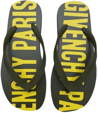 Givenchy Khaki Rubber Sandals