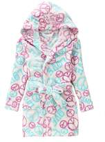 Evebright Kids Girls Soft Hooded Robe Cute Soft Touch Plush Bathrobes Age 8-9