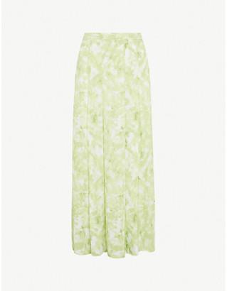 Faithfull The Brand Cuesta tie-dye crepe midi skirt