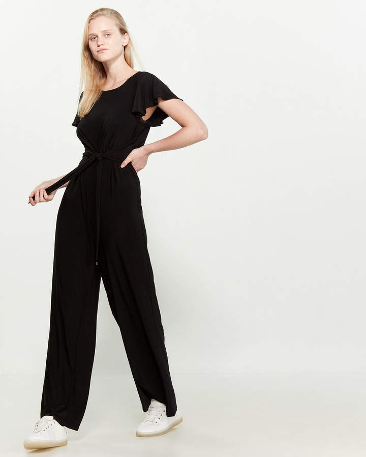 many choices of factory authentic top fashion Black Tie Waist Jumpsuit - ShopStyle