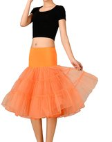 Noriviiq Women's 50s Rockabilly Tutu Skirt Petticoat