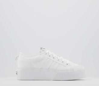 adidas Nizza Platform Trainers White White White