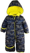 iXtreme Baby Boys Army Camo Puffer Winter Snowsuit Pram, Navy, 3-6 Months