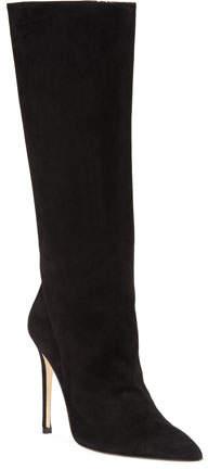 Alexandre Birman Porto Suede Pointed-Toe Boot, Black