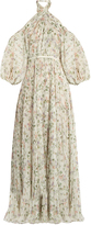 Giambattista Valli Twist-neck floral-print chiffon gown