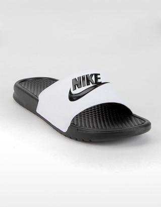 Nike Benassi JDI White & Black Mens Slide Sandals