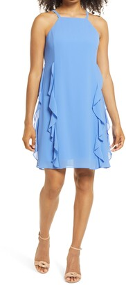 Vince Camuto Ruffle Chiffon Dress