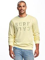 Old Navy Garment-Dyed Fleece Sweatshirt for Men