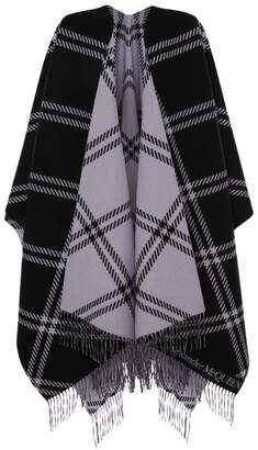 Alexander McQueen Wool Jacquard Welsh Check Cape