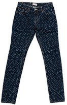 RED Valentino Polka Dot Mid-Rise Jeans