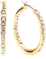 Gloria Vanderbilt Large Gold-Tone Pave Hoop Earrings