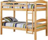 Walker Edison Natural Wood Bunk Bed Frame