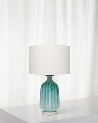 Frosted Glass Table Lamp Aqua