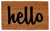 "Home & More Natural/Black Script Hello Doormat, 1'5"" x 2'5"""