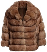 The Fur Salon Sable Fur Collared Jacket