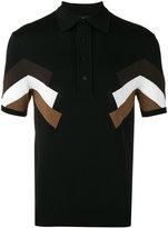 Neil Barrett panelled polo shirt