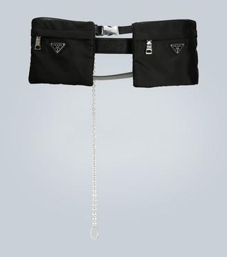Prada Nylon and Saffiano leather belt bag