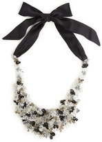 Josie Natori Beaded Bib Necklace Black