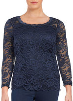 Junarose Vanna Three Quarter Sleeve Lace Blouse