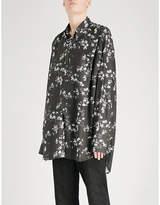 Ann Demeulemeester Floral-print oversized woven shirt