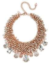 Badgley Mischka 6MM-8MM and 8MM x 9MM Freshwater Pearl and Crystal Statement Necklace