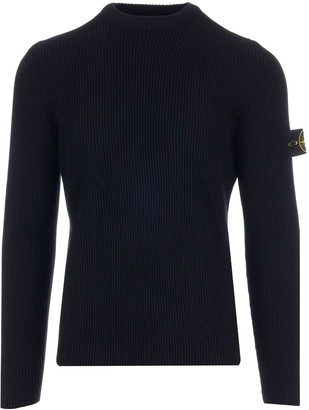 Stone Island Crewneck Ribbed Sweater
