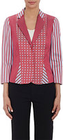 Philosophy di Alberta Ferretti WOMEN'S MIXED-PATTERN JACQUARD BLAZER SIZE 40 IT