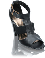 Shellys High T-Bar 3 Strap Elastic Sandal