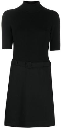 Theory Combined Skirt-Effect Mini Dress