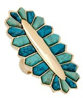 Noir 18k Plated Turquoise Ring.