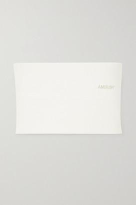 Ambush Embroidered Neoprene Top - White