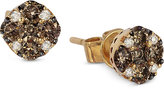 LeVian Le Vian Chocolate and White Diamond Stud Earrings (1/2 ct. t.w.) in 14k Yellow Gold