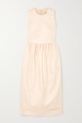 &Daughter Frayed Cotton-blend Twill Maxi Dress - Cream
