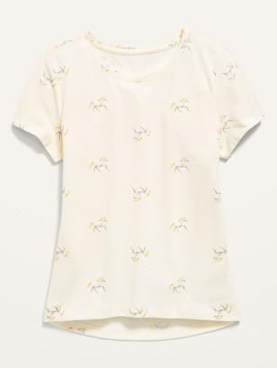 Old Navy Softest Unicorn-Print Crew-Neck Tee for Girls