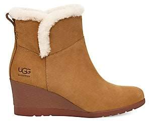 UGG Women's Devorah Sheepskin-Lined Suede Wedge Boots