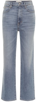 SLVRLAKE London Crop high-rise straight jeans