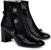 Camilla Elphick Black Patent Beetle Boots