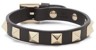 Valentino Rockstud Leather Bracelet - Black