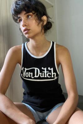 Von Dutch Logo Vest - Black UK 10 at Urban Outfitters