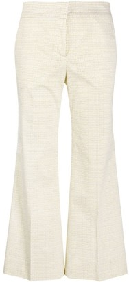 Piazza Sempione Flared Cropped Trousers