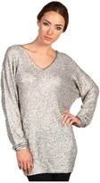 Donna Karan V-neck Dolman Tunic (Pearl) - Apparel