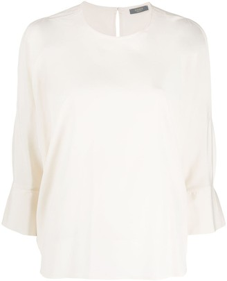Peserico cut-out shoulder blouse