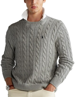 Polo Ralph Lauren Cotton Cable Knit Jumper with Crew-Neck