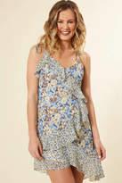 Astr Print Mix Mini Dress Blue Multi M