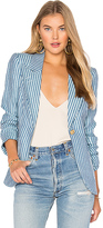 Smythe Patch Pocket Duchess Blazer in Blue