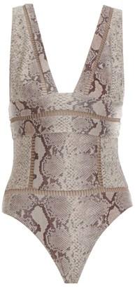 Zimmermann Bellitude Snake Print Swimsuit
